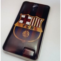 case barcelona цветен силиконов гръб за LENOVO A319